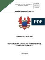 Et-fac- 065 Uniforme Para Actividades Administrativas Recreacion y Deporte