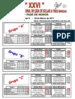 Resultados Liga Nacional Div. Honor 3ª jornada