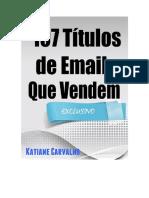 107 titulos de emails