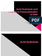 Acid Hydrolysis and Chemical Characterization of DNA