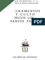 DANIELOU, J., Sacramentos y Culto Segun Los Santos Padres, 2 Ed., 1964