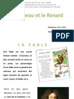 El cuervo y el zorro en francés