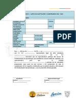 Anexo 4. Carta de Aceptación y Compromiso