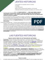 Las Fuentes Historicas