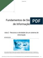 Fundamentos de Sistemas de Informação - Aula_02