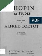 Chopin Op 10 Etudes (Cortot Edition)