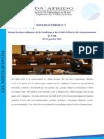 Synthèse de la 16ème Session ordinaire de la Conférence des Chefs d'Etat et de Gouvernement de l'UA