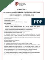Encuestas Presidenciales UTP - Marzo - Arequipa