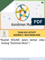 TUGAS SELF ACTIVITY KOMITMEN MUTU