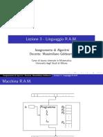 Lezione3 Algoritmi-Linguaggio RAM