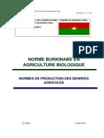 Normes Burkinabè en Agriculture biologique_BF