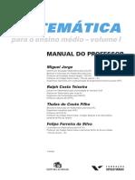 Matemática Para o Ensino Médio -Resoluções- - Vol.01