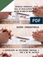 Divórcio e Separação Consensuais_apresentação