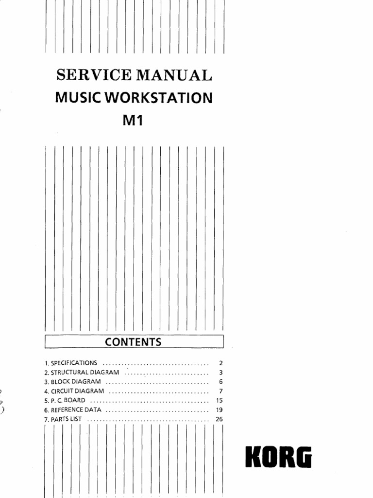 Korg Wiring Diagram Trusted Diagrams Technics M1 Service Manual