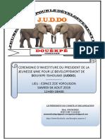 CEREMONIE D'INVESTITURE JUDDO 2018