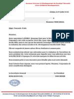 COURRIERS DEMANDE D'AIDE JUDDO