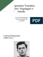 6. Wittgenstein Tractatus. Pensiero, linguaggio e mondo