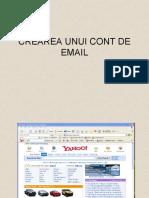 Crearea Unui Cont de Email