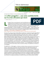 « L'Effet Pangolin », Une Note Confidentielle Devenue Virale en Afrique, Par Frédéric Mantelin (Les Blogs Du Diplo, 9 Avril 2020)