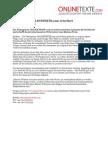 www.onlinetexte.com - Pressemeldung 2011-13 - Textagentur ONLINETEXTE.com Erweitert Produktangebot