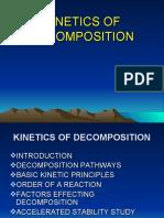 kinetics of drug decomposition11