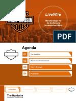 Harley Davidson Marketing LiveWire