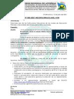 OFICIO MULTI. N°82-2021-UGEL AYMARAES ok
