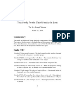 Text Study for the Third Sunday in Lent -- 2011