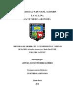 """""""DENSIDAD DE SIEMBRA EN EL RENDIMIENTO Y CALIDAD  DE SANDÍA (Citrullus lanatus) cv. Black Fire EN EL  VALLE DE CAÑETE"""""""