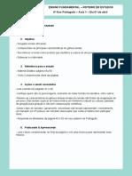 Aula 1 Português - 01-04