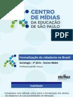 Formalização Da Cidadania No Brasil