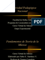 Fundamentos de teoría musical