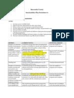 Sustainability Plan Worksheet #1 Foster Healthy Communities draft 3-24-11