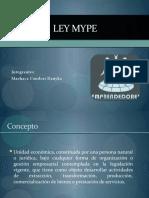 diapositiva  LEY MYPE