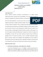 CASO PRÁCTICO 2 DE LA MATERIA TEORIA ADMINISTRATIVA
