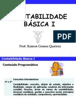 Slides - Contabilidade Básica - I - Parte 01 - Conceitos Introdutórios