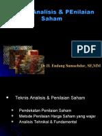 Teknis Analisis & Penilaian harga Saham
