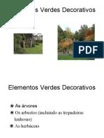 Elementos Verdes Decorativos Botânica