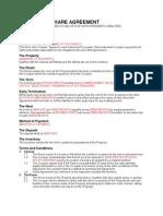 Sample UK Sublet Agreement