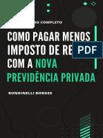 COMO PAGAR MENOS IMPOSTO DE RENDA COM A NOVA PREVIDÊNCIA PRIVADA