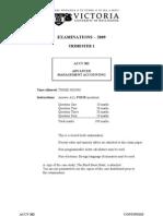 ACCY302 2009 Tri 1  EXAM Paper