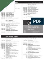 CAPC Annual Seminar 2010 Schedule
