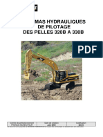 822 S- Schéma hydraulique de pilotage des pelles 320B à 330B