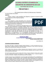 AEE - 3º Encontro de Dirigentes - pré-estudo