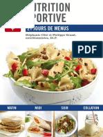 Nutrition Sportive 21 Jours de Menus - Stephanie Cote & Philippe Grand