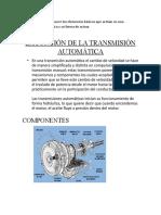 Transmision Auto Matica.