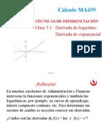 1.7 Derivada de funciones logarítmicas y exponenciales (1)