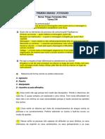 Atendimento Ao Cliente - PRIMEIRA SEMANA ...