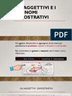 Gli Aggettivi e i Pronomi Dimostrativi1