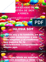 Eucaristía Don Andrés